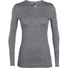 Icebreaker 200 Oasis LS Crew Shirt Women Gritstone Heather